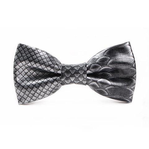 Shops Stylish 3D Fish Scale Pattern PU Bow Tie For Men