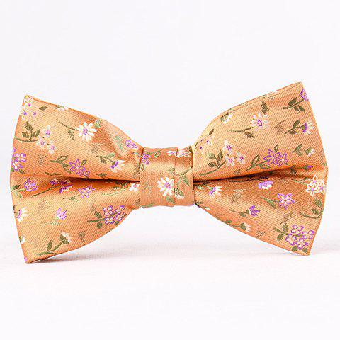 Outfit Stylish Flower and Leaf Jacquard Bow Tie For Men