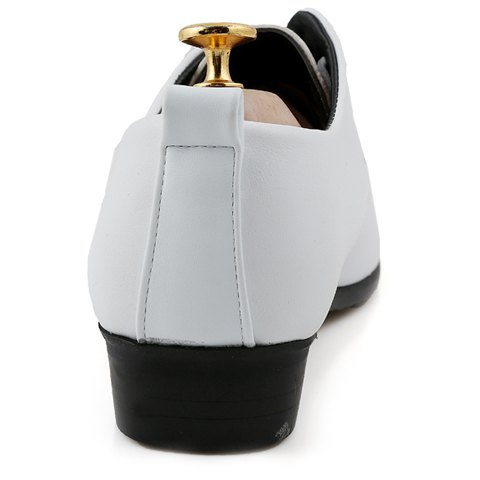 Store Stylish Pointed Toe and Lace-Up Design Formal Shoes For Men - 44 WHITE Mobile