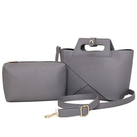 Cheap Elegant Solid Color and PU Leather Design Tote Bag For Women