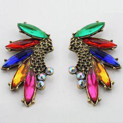 Pair of Faux Gem Decorated Alloy Earrings -