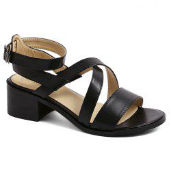 Fashion Cross-Strap and Black Design Sandals For Women