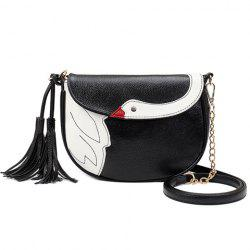 Cute Tassels and Swan Pattern Design Crossbody Bag For Women -