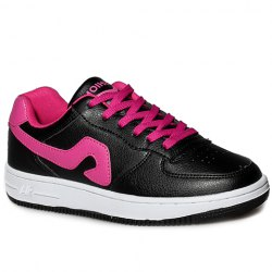 Fashion Lace-Up and Color Matching Design Sneakers For Women