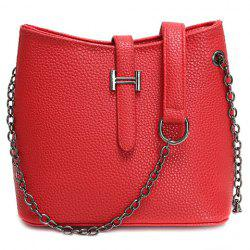 Fashionable Chain and Solid Colour Design Crossbody Bag For Women -