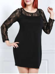 Long Sleeve Lace Pencil Club Dress -