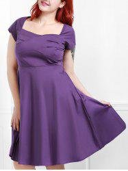Vintage Sweetheart Neck Plus Size Bridesmaid  Dress