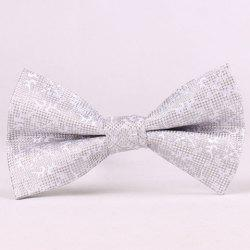 Stylish Jacquard Embellished Bow Tie For Men - LIGHT GRAY