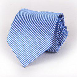 Stylish Slender Stripe Pattern 8.5CM Width Blue Tie For Men
