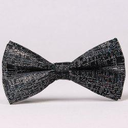 Stylish Sequins Embellished Solid Color Bow Tie For Men - BLACK