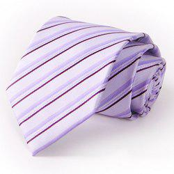Stylish Twill Pattern 8.5CM Width Light Purple Tie For Men