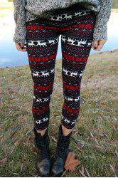 Trendy Women's High Waist Geometrical Print Hit Color Leggings