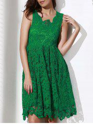 Lace Sleeveless A Line Cocktail Dress -