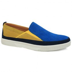 Fashionable Color Block and Suede Design Casual Shoes For Men -
