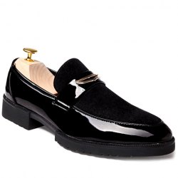 Fashion Patent Leather and Black Design Formal Shoes For Men -