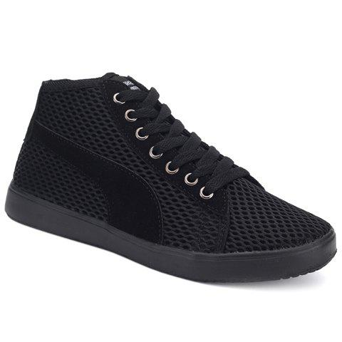 Mesh Casual and Lace-Up Design Sneakers For Men