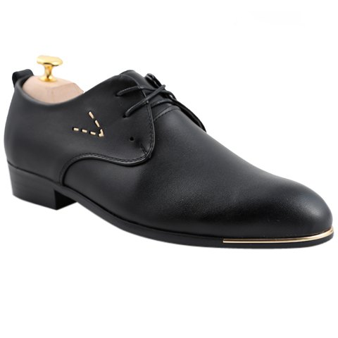 Cheap Stylish Pointed Toe and Lace-Up Design Formal Shoes For Men