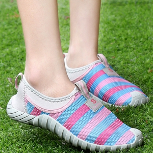 Casual Color Block and Mesh Design Sneakers For Women -
