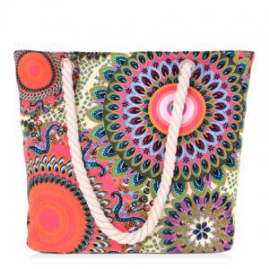 Casual Multicolor and Floral Print Design Shoulder Bag For Women - Colormix