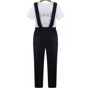 Women's Stylish High Waist Pure Color Overalls -