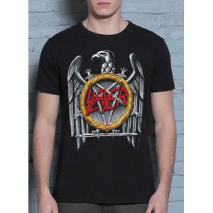 Western Style Round Neck Eagle Print Short Sleeves 3D T-Shirt For Men -