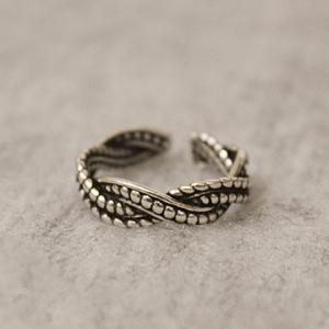 Vintage Alloy Wave Casual Ring - SILVER ONE-SIZE