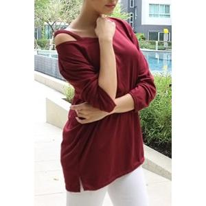 Casual V-Neck Long Sleeve T-Shirt For Women