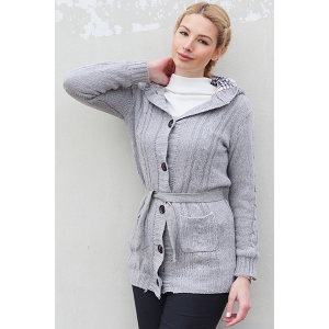 Women's Long Sleeve Hoodie Coat Cardigans trench Sweater -