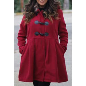 Graceful Hooded Long Sleeve Faux Fur Spliced Women's Hooded Coat