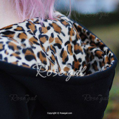 Sexy Hooded Inside Leopard Printed Thick Hoodie For Women от Rosegal.com INT