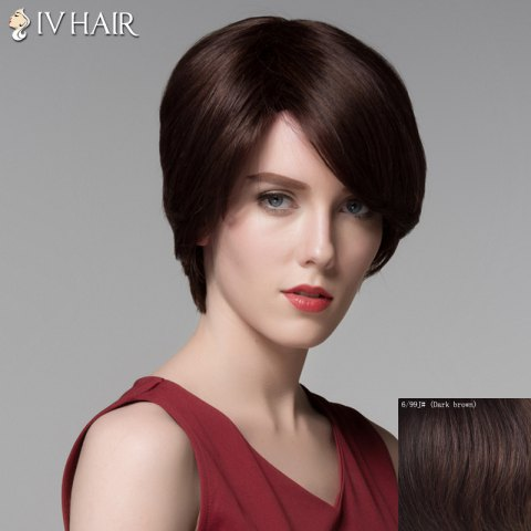 Hot Noble Straight Side Bang Vogue Short Capless Real Natural Hair Wig For Women