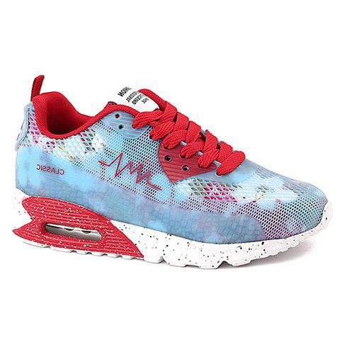 Trendy Stylish Colour Matching and Lace-Up Design Athletic Shoes For Women