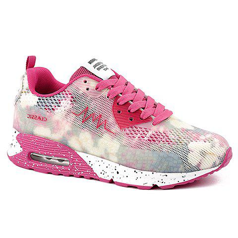 Store Stylish Colour Matching and Lace-Up Design Athletic Shoes For Women - 39 ROSE Mobile