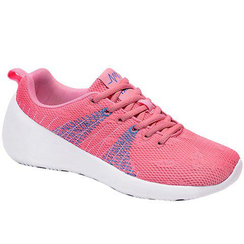 Fashion Casual Lace-Up and Color Matching Design Athletic Shoes For Women