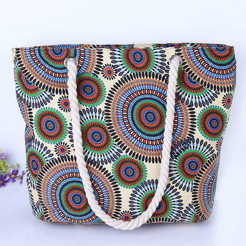 Buy Casual Multicolor and Circle Pattern Design Shoulder Bag For Women - CYAN  Mobile