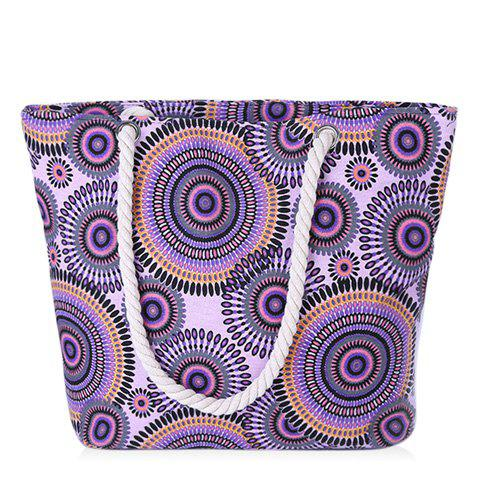 Buy Casual Multicolor and Circle Pattern Design Shoulder Bag For Women - PURPLE  Mobile