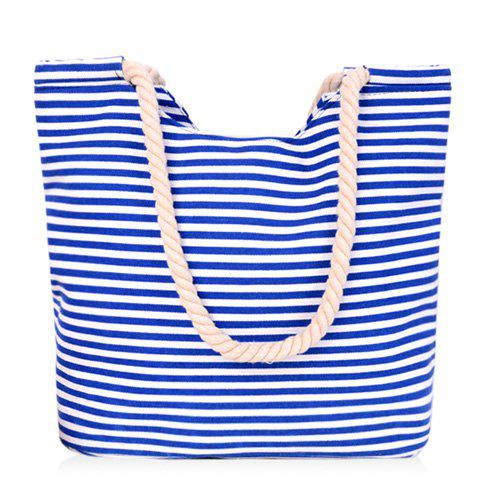 Hot Leisure Striped and Canvas Design Shoulder Bag For Women