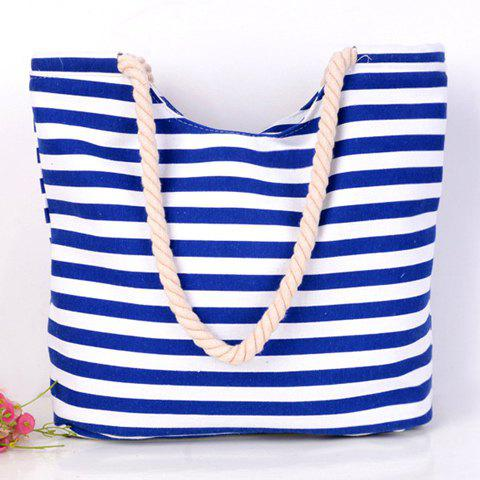 Cheap Concise Colour Block and Striped Design Shoulder Bag For Women -   Mobile