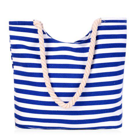 Best Concise Colour Block and Striped Design Shoulder Bag For Women