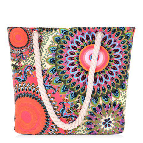 Fancy Casual Multicolor and Floral Print Design Shoulder Bag For Women COLORMIX