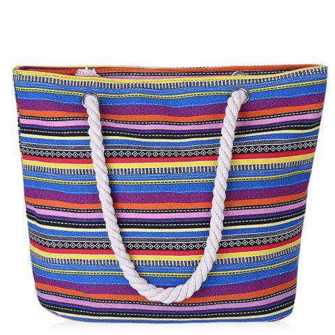 Shop Casual Striped and Canvas Design Shoulder Bag For Women