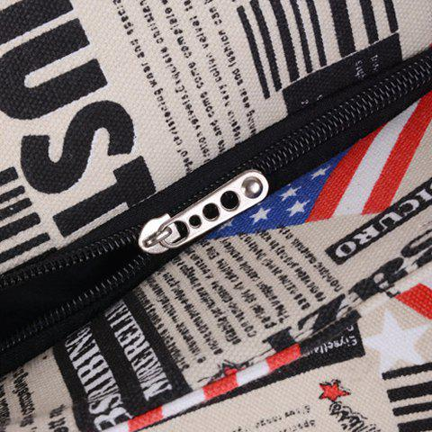 Outfits Casual American Flag and Canvas Design Shoulder Bag For Women - LIGHT KHAKI  Mobile