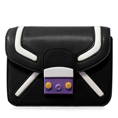 Chic Trendy Cover and Color Block Design Crossbody Bag For Women