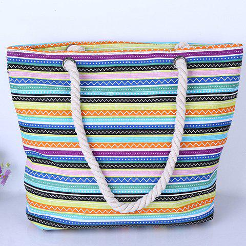 Affordable Leisure Multicolor and Striped Design Shoulder Bag For Women - COLORMIX  Mobile