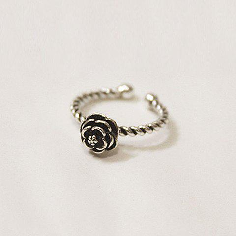 Outfit Vintage Rose Shape Cuff Ring