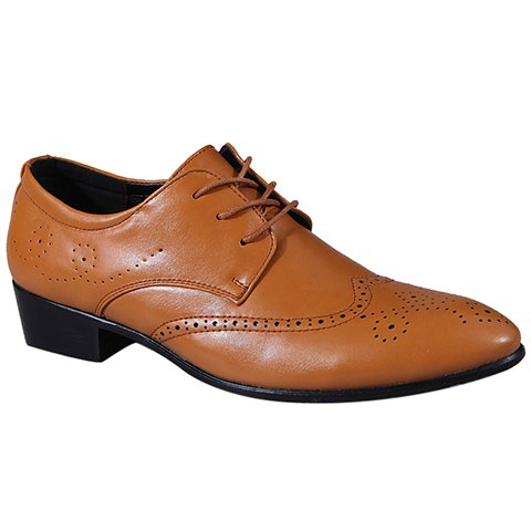 Sale Trendy Wingtip and Lace Up Design Formal Shoes For Men - 42 BROWN Mobile