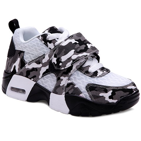 Hot Trendy Camouflage and Lace-Up Design Sneakers For Women