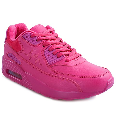 Best Simple PU Leather and Lace-Up Design Sneakers For Women