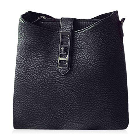 Outfit Trendy Solid Color and PU Leather Design Shoulder Bag For Women