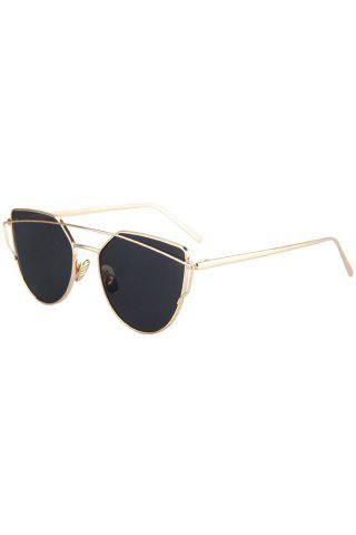 Fancy Fashion Metal Bar Golden Frame Pilot Sunglasses For Women BLACK